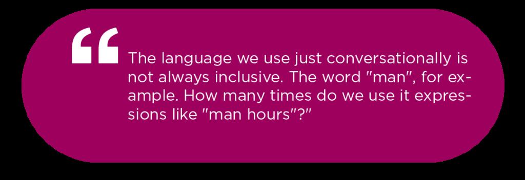 Quote on semantics of words by Karen Catlin