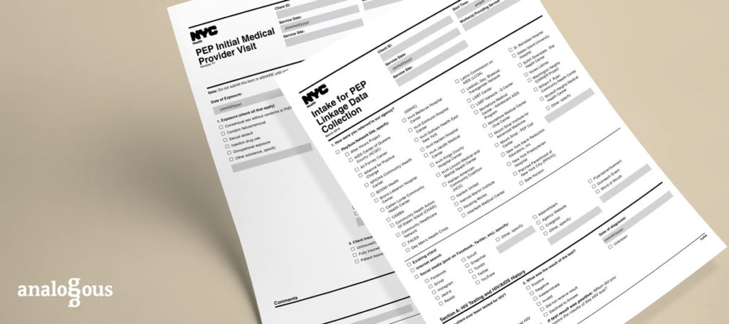 Redesigned HIV forms for AIDS prevention