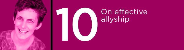 On Effective Allyship