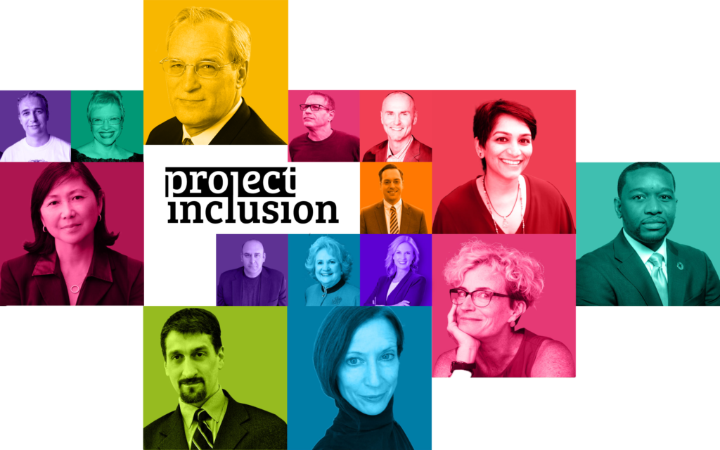 mosaic with different color photos of project inclusion guests