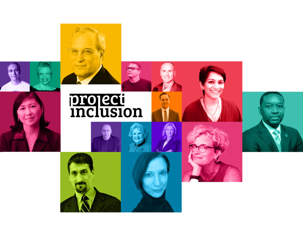 mosaic of color portraits of different project inclusion guests